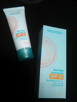 wardah sunscreen gel spf 30 PA+++