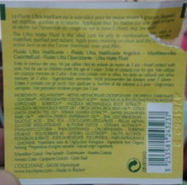 Angelica Ultra Matte Fluid Sample Ingredients
