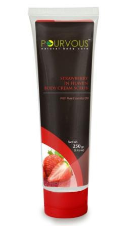 Pourvous-Body-Cream-Scrub-Strawberry-Paraben-Free