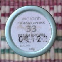 wardah peach brown number