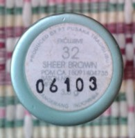 wardah sheer brown number